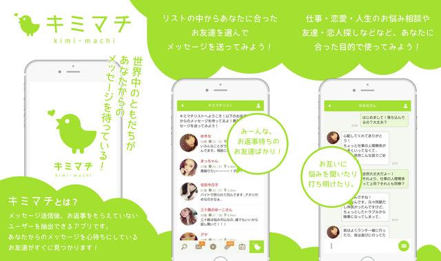 キミマチアプリのTOP