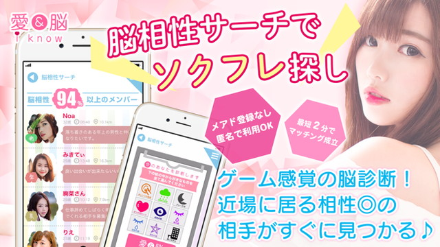 愛&脳(i know)アプリのTOP