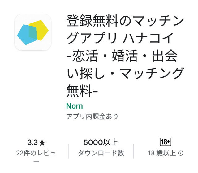 ハナコイアプリの評価