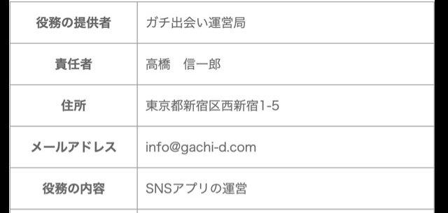 ガチ出会いアプリの運営会社情報
